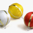 Three baubles — Stock Photo