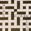 Crossword puzzle — Foto de Stock