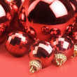 Christmas red balls — Stock Photo