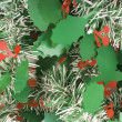 Christmas Mistletoe leaves — Stock Photo