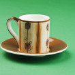 Saucer with a tea cup — Stock Photo