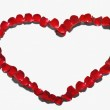Heart shape made from red rose petals — Stock Photo #32899829
