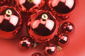 Christmas red balls — Stockfoto