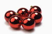 Red baubles — Stock Photo