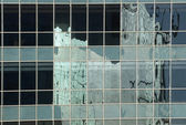 Reflection of an office building, Gurgaon — Stock Photo