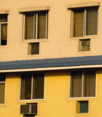 Windows of an apartment building, Gurgaon — Stock Photo
