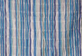 Blue striped fabric background. — Stock Photo