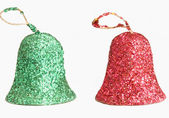 Red and green Christmas bells — Stock Photo