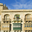 Windows of building, Valetta — Stock Photo #32947897