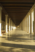 Corridor of an ancient museum, Stoa of Attalos — Stock Photo