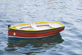 Boat moored in the sea — Stock Photo