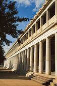 Colonnade of an ancient museum, Stoa of Attalos — Stock Photo