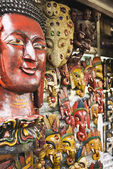 Masks in a store — Stock Photo