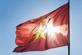 Flag fluttering — Stock Photo