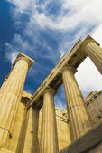 Ruins of an ancient gateway, Propylaea — Stock Photo