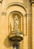 Bir kilisede heykeli — Stok fotoğraf