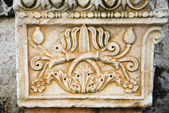 Carving on a wall, Stoa of Attalos — Stock Photo
