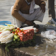Vendor selling vegetable in street — Stock Photo #32951099