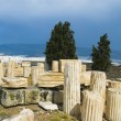 Ruins of columns in a field, Acropolis — Stock Photo