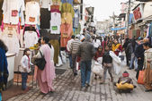 People in a street market — Stock Photo
