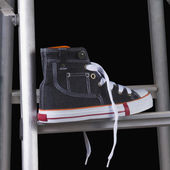 Shoe on a step ladder — Stock Photo