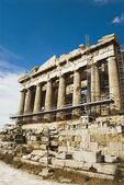 Ancient temple under renovation, Parthenon — Stock Photo