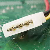 4pin power connector cable on a mother board — Stock Photo