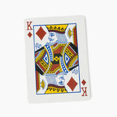 King of diamonds playing card — Stock Photo