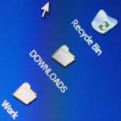 Icons on a computer screen — Stock Photo