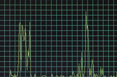 Windows task manager graph — Stock Photo