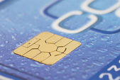 Computer chip on a credit card — Stock Photo