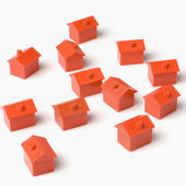 Model houses — Stock Photo