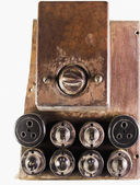 Old light switches and sockets — Stock Photo
