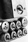 Alte Lichtschalter und Steckdosen — Stockfoto