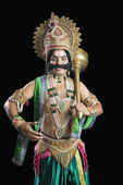 Man dressed-up as Ravana — Stock Photo