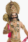 Artist dressed-up as Ravana — Stock Photo