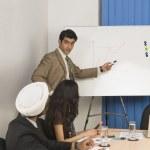 Businessman giving presentation — Stock Photo #32975297
