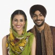 Sikh couple smiling — Stock Photo #32979657