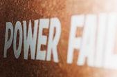 Power failure text — Stock Photo