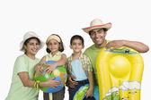 Family enjoying on vacations — Stock Photo
