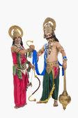 Rama ve ravana giyinmiş sanatçılar — Stok fotoğraf