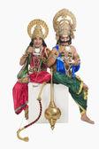 Rama ve ravana gibi giyinmiş iki adam — Stok fotoğraf
