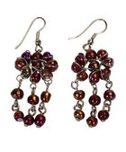 Close-up of a pair of earrings made from beads — Stock Photo