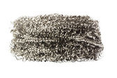 Close-up of a stainless steel scouring pad — Stock Photo