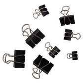 Close-up of binder clips — Stockfoto