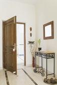 Open door of a house — Stock Photo