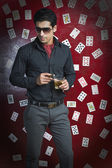 Man in a casino — Stock Photo