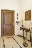 Closed door of a house — Stock Photo