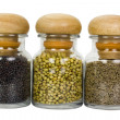 Close-up of spice containers — Stock Photo