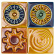 Close-up of assorted decorative tiles — Stock Photo #32983447